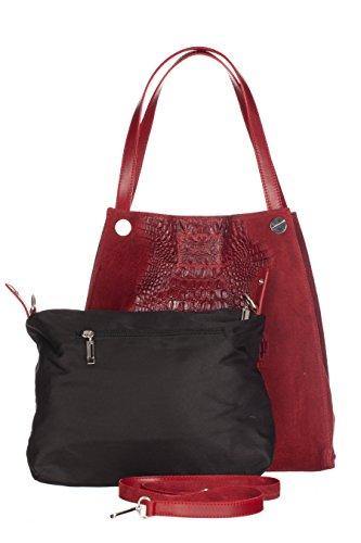 Laura Moretti Handbags - Borsa in pelle de mano Rosso