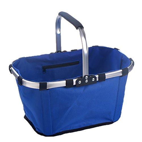 Folding picnic basket JF faltender Picknickkorb/Familieneinkaufskorb im Freien Umweltschutz tragbar bequem/43cm * 27cm * 23cm (Farbe : A) (4 Faltbare Stoff Baskets)