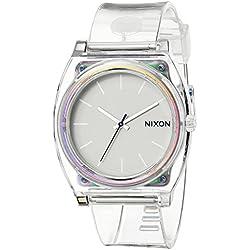 Nixon A1191779-00 - Reloj de cuarzo para mujer, con correa de plástico, color blanco