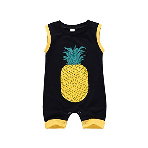 Ärmelloser-Overall-Mit-Ananas-Print-Für-Babys,Sommer-Infant-Baby-Jungen-Mädchen-Ananas-Print-Strampler-Jumpsuits,Kleidung-Sunsuit-Stylish-Fashion,Einzigartiger-Stil-Sie-Mode,Schön-Und-Cool