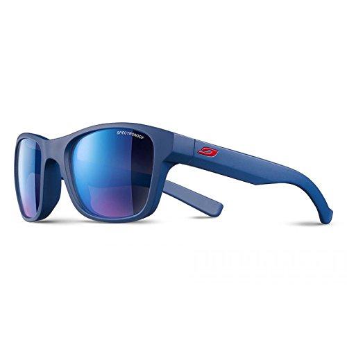 Julbo Reach Sonnenbrille Unisex Kinder, Blau Navy/Logo rot
