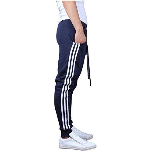 Minetom Pantaloni da Jogging da Uomo sportivi Casual Sarouel danza Pantaloni in esecuzione Marina