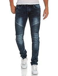 BLZ jeans - Jeans bleu homme délavé nervuré street look