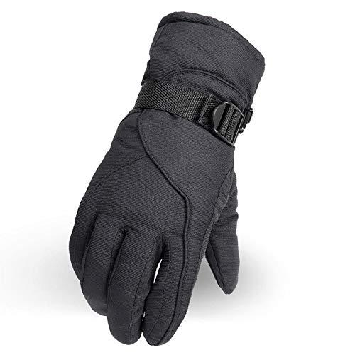 LANVY Outdoor Reithandschuhe, Wasserdichte Schneehandschuhe Thermische, Winddichte Handschuhe für das Snowboarden Im Freien - Schwarz