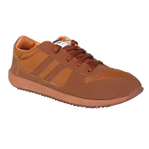 Gold Star Mens Mesh Brown Running and Gym Shoes (6 UK, BROWN)  available at amazon for Rs.496