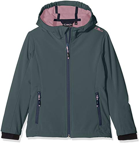 CMP Mädchen Soft-Shell Jacke, Hydro/Candy, 176 Hydro Fleece Hoody