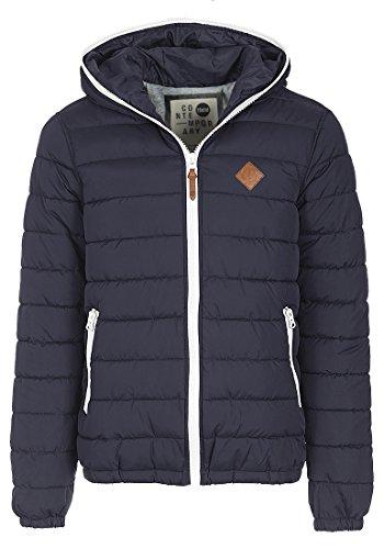 SOLID Dennis Herren Winterjacke Jacke mit Kapuze und durchgehendem Reißverschluss aus hochwertiger Materialqualität, Größe:M, Farbe:Insignia Blue (1991)