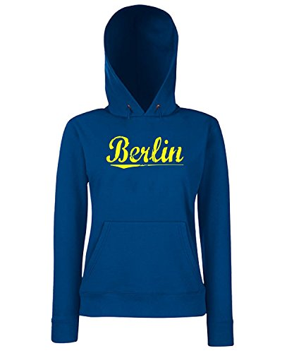 T-Shirtshock - Sweats a capuche Femme OLDENG00309 berlin yellow Bleu Navy