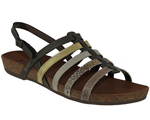 Mephisto ,  Damen Römersandalen , Gold - grau - Größe: 35 (Schuhe Gold Mephisto)