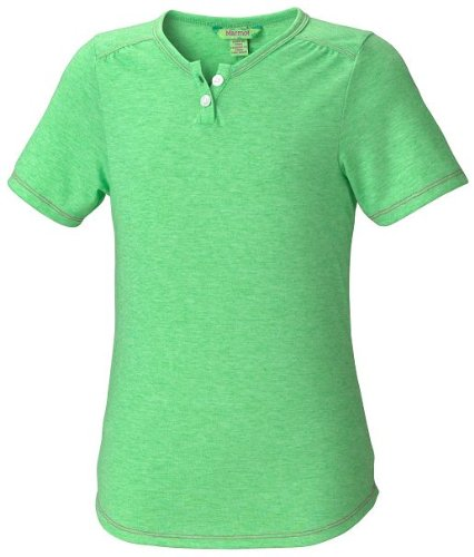 Marmot Kinder Hemd Sara Short Sleeve, bright grass, S, 69340-4343-3 (Iii Sleeve Short Shirt)