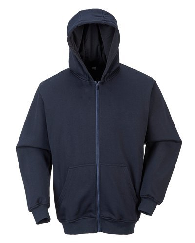 Portwest fr81narxxxl FR Zip Front Hooded Sweat Shirt, Regular, Größe: 3X Große, Marineblau (Zip Front Hooded Sweatshirt Shirt)