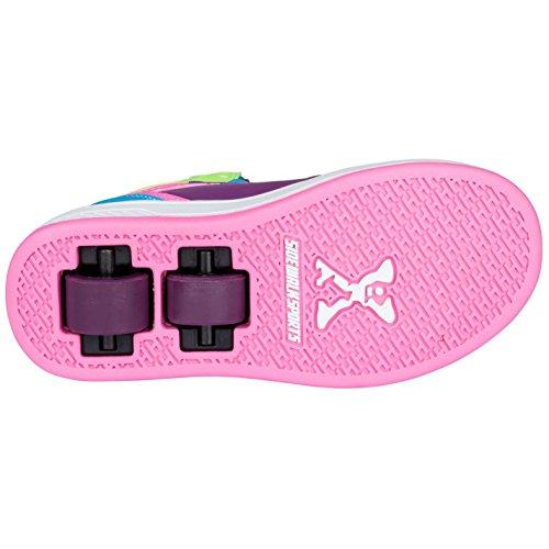 Sidewalk Sport Kinder Maedchen Hi Top Schuhe Mit Rollen Heelys Rollschuhe Purple/Pink/Blu