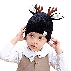 QinMM Kinder warme Winter Mütze, Baby Jungen Mädchen Elch Ohren Strickmütze Cap Geeignet für 2-8 Jahre alt beliebte Neujahrsgeschenke
