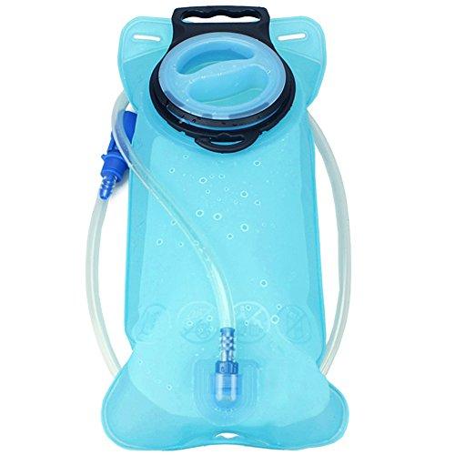Enko Trinkbeutel 2L, Auslaufsicher Trinksystem Blase, Outdoor-Hydratation-Blasen,Einfach zu Säubern Sie, am Besten für das Wandern, das Kampieren, das Radfahren, die Jagd, das Klettern. Blau