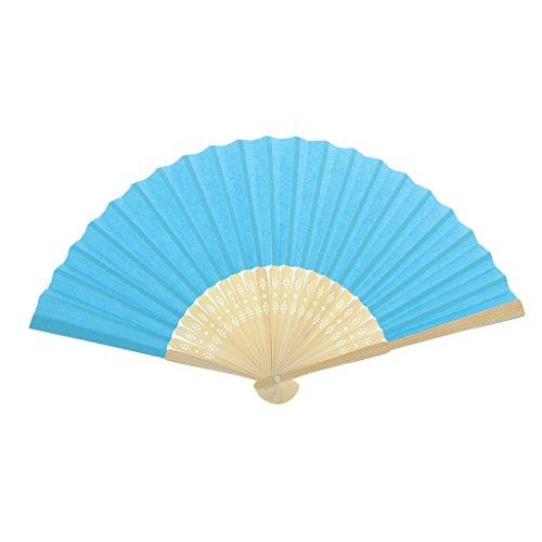 Einseitiges DIY Fertigkeit Phantasie Tanzparty Papierhand Fan- Tief Grün - Blau