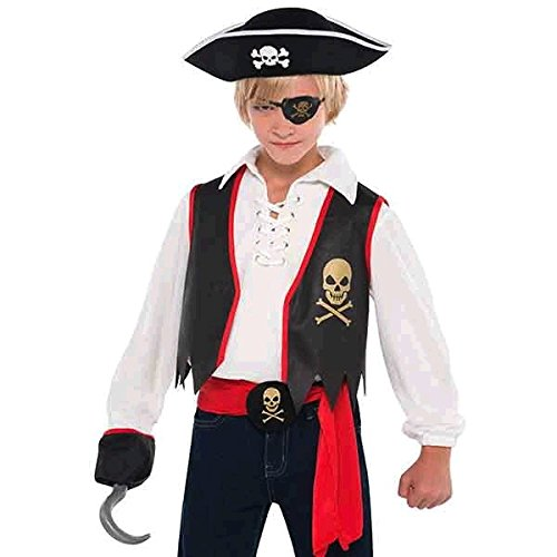 Piraten Kostüm Accessoire Set 5tlg. Kinder - Kostüm Kinder Valentine