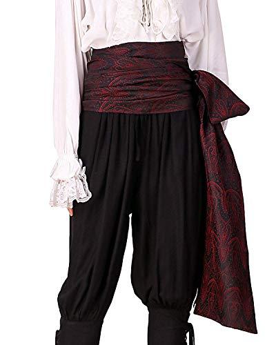 C1417 Schärpe, Pirat, mittelalterliche Renaissance, Leinen, groß Gr. onesize, Brocade# 49 (Lined With Satin - Leichte Herren Renaissance Kostüm