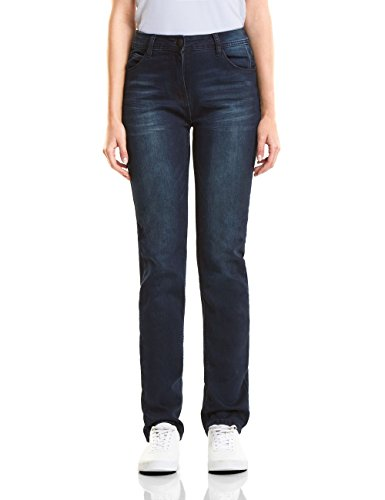 Cecil Damen 371547 Toronto Straight Skinny Jeans, Blau (mid Blue wash 10283), W32/L32 -