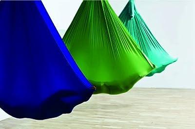 Aerial Yoga Tuch, 4,5 x 2,8 Meter, Set inkl. Zubehör, Sicherheitsgeprüft, Deutscher Hersteller