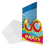 8x Einladung Geburtstag Zahl 60 Geburtstagsparty