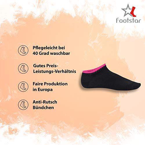 Footstar 10 paia di calze da ginnastica per bambini e bambine SNEAK IT! tonalit/à frutti di bosco