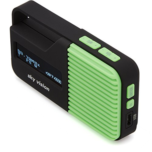 Sky Vision DAB Radio 10 G - Kleines, tragbares Mini Digital Radio, Outdoor, DAB+, FM/UKW Tuner, USB Ladefunktion (Grün)
