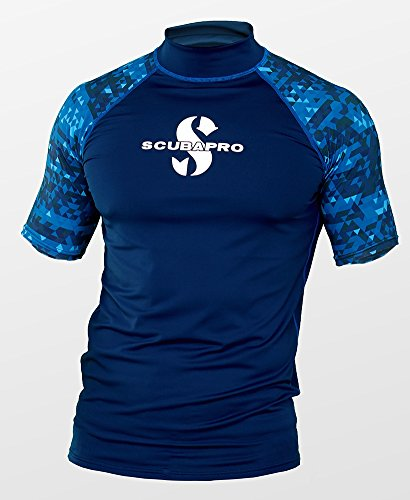 Scubapro AEGEAN Rash Guard Kurzarm Herren Slim Fit UV-Shirt Collection 2017 (XL)
