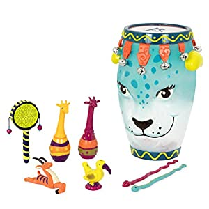 B. toys by Battat BX1882C1Z B. Jungle - Tambor con Instrumentos, Nailon/A