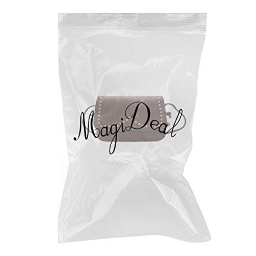 MagiDeal Moda Borse a spalla Tracolla Sacchetto del Messaggero per Donna Ragazze - Grigio Marrone scuro