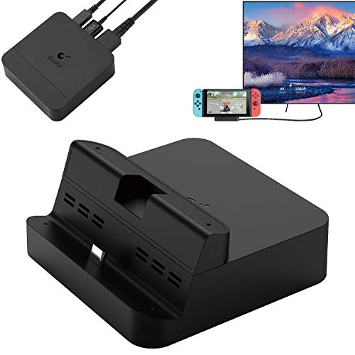 GULIkit Switch Dock Set, Typ C zu HDMI Adapter Docking Station für Nintendo Switch TV-Konsolenmodus, Ladestation Tragbarer Kompatibel Samsung DeX Modus, Huawei PC Modus und Macbook iPad Pro - Party 2 Wii