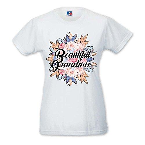 T-Shirt Donna Idea Regalo Festa Dei nonni Beautiful Bianca
