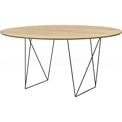 Table de Repas Ronde en Bois Pieds Metal Noir D150 Row