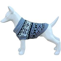 Freedog FD5000922 - Jersey lana hipster, para perro, color gris