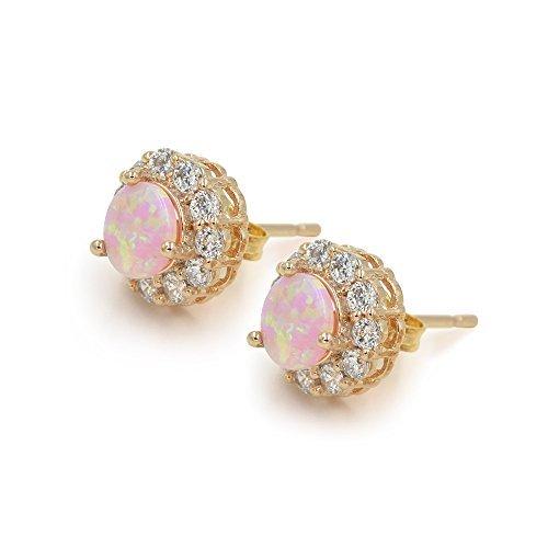 10-mm-redondo-rosa-circonitas-opal-pavimentada-rose-gold-tone-pendientes-de-tuerca