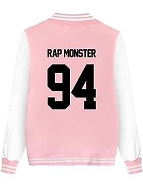 [Patrocinado]ShallGood Las Mujeres Moda Nuevas Casuales BTS Fans Universitario Chaqueta Sudadera Baseball Abrigos Jacket Outerwear...