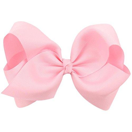 Zolimx Kinder Schmetterlings Knoten Haarklammer (Rosa)