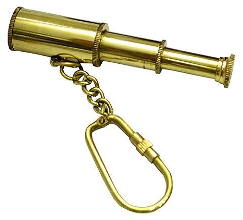 Mini Telescope Pendant Charm Spyglass Key