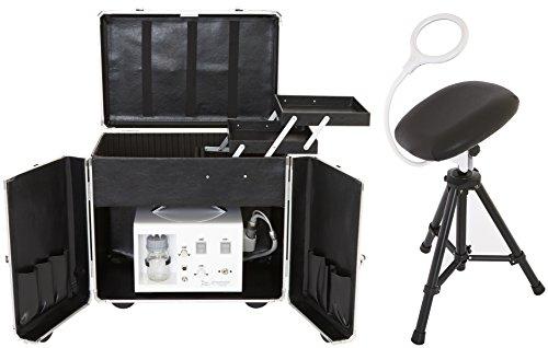 Fußpflege-Erstausstattung CS-DOLPHI/BLACK Gerät,Koffer, Beinstütze & LED Klemmleuchte