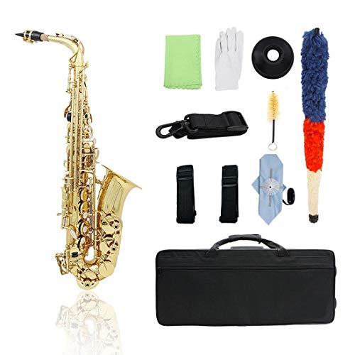 SKSNPA Saxophon-Musikinstrument Anfänger authentische Erwachsene Tropfen E Melodie Altsaxophon-DUK-Schultanzinstrument für Erwachsene Anfänger