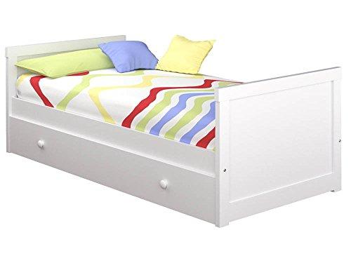 ATLAMP Cama Nido Recto (Colchón 105 x 200, Blanco)