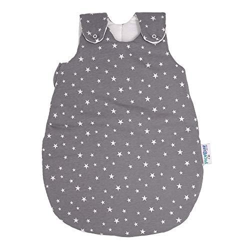 picbear Babyschlafsack STERNENHIMMEL ❤ mitwachsend & atmungsaktiv | Sommer & Winter | Baby Schlafsack vier verstellbaren Größen (50/56)