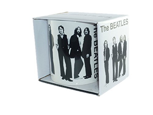 The Beatles - Rock Band Tasse Geschenktasse - Group Shot...toll und stabil verpackt in einer Geschenkbox! (Beatles Tasche)