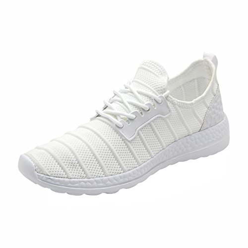 Mens Womens Outdoor Sports Running Shoes Fashion Mesh Sneakers White 36-47