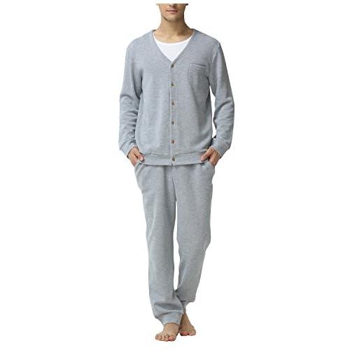 Dolamen-Coppie-Pigiama-per-Uomo-Signore-calda-molle-inverno-Pigiama-da-notte-Cotone-Uomo-Pigiama-invernale-manica-lunga-Top-Pantaloni-con-tasche