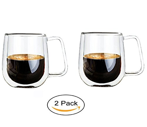 Vicloon Double Walled Glass Mugs,Borosilicate Glass Cups,For Tea,Coffee,Latte,Cappuccino,Espresso,Beer,250ml 41mScBq7rdL