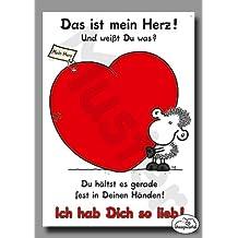 01 - Liebeskarte - Das ist mein Herz - Postkarte von Sheepworld