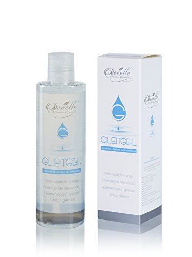 Gleitgel vegan und natürlich von Develle | Massage-Gel | Entspricht dem vaginalen ph-Wert | Premium Qualität | 250 ml (Liebe-gel-massage)