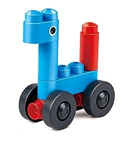 PolyM 760001Aventura liche Vehículos Niños Pequeños de Juguete, Flexible y rundkantige Ladrillos