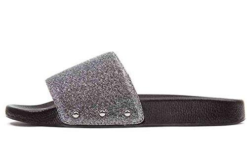 happy-lily-damen-slip-auf-hausschuhe-rutschfeste-slide-sandalen-outdoor-mule-sommer-schuhe-silber-45
