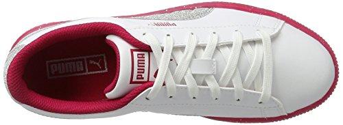 Blanc bianco Jr Mixte Enfant 2 Bassi Sneakers Puma Scintillio argento Ghiacciato Cestino xHqwSw4vz